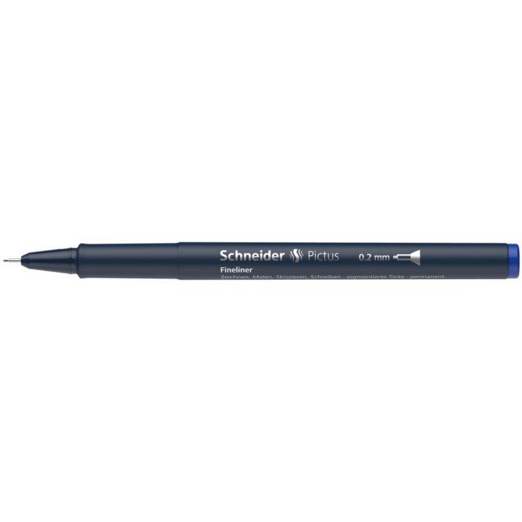 Fineliner Schneider Pictus 0,2 mm Albastru 3