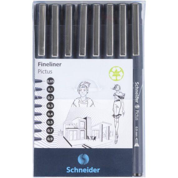 Fineliner Schneider Pictus 8 buc/portofel 1