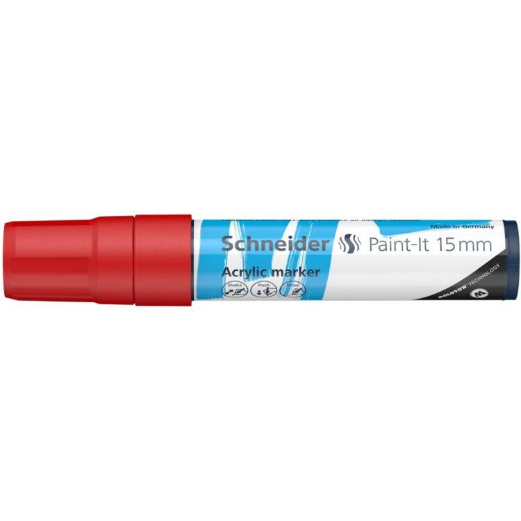 Marker cu vopsea acrilică Paint-It 330 Schneider Roșu 1