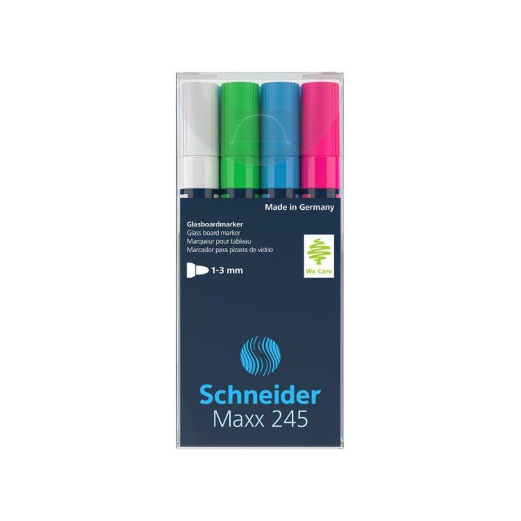 Marker pentru sticlă Schneider Maxx 245 set 1