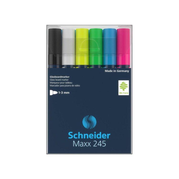 Marker pentru sticlă Schneider Maxx 245 6/set