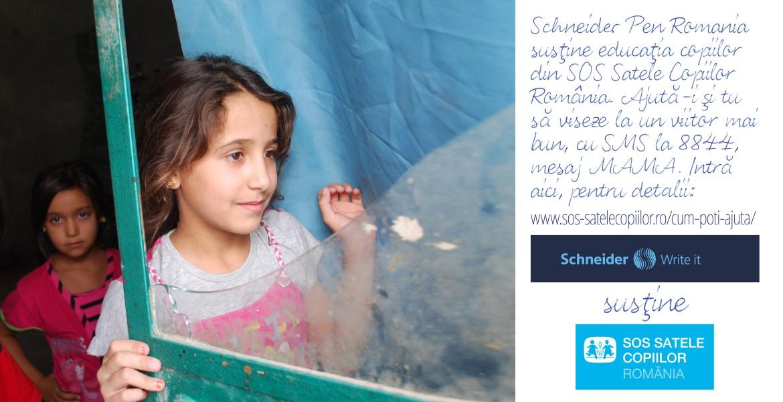 Schneider România susține SOS Satele Copiilor