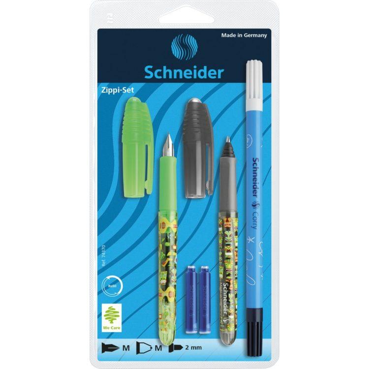 Set Stilou Roller Schneider Zippi Verde+Negru