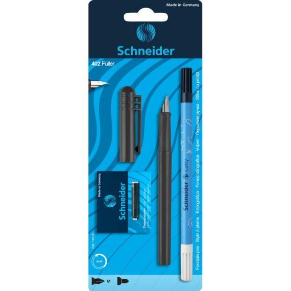 Set Stilou Schneider Unicolor Negru