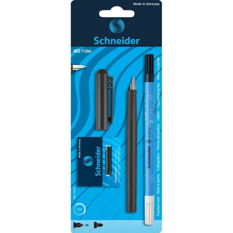 Set Stilou Schneider Unicolor Negru