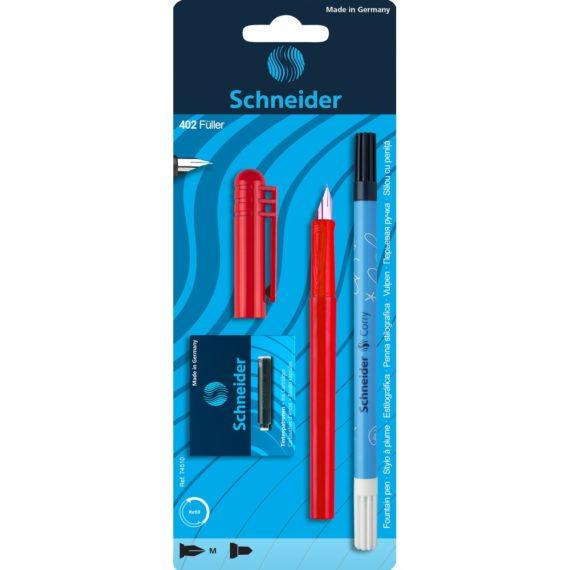 Set Stilou Schneider Unicolor Roșu