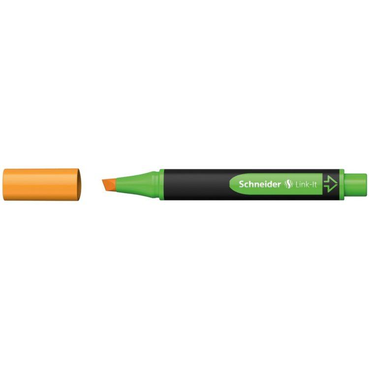 Textmarker Schneider Link-It Portocaliu